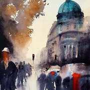 A Walk by Trinity College