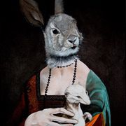 Rabbit Lady With Ermine