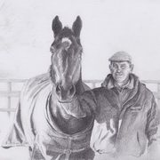Irish Art, Man and Horse,