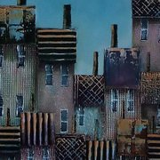 Quirky Townscape,Mixed Media