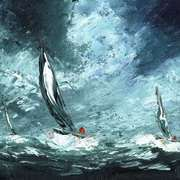 Irish Art, Sails on Wild Seas,