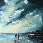 Strollers on Stradbally Beach
