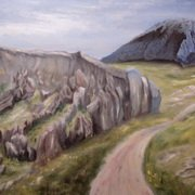 Art 'Old Road to Eyries'