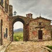 Art 'Before The Rain (Volterre, Tuscany)'