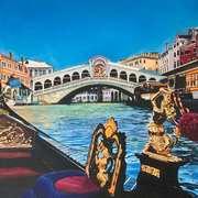 Sunny Morning On The Grand Canal (Ponte di Rialto, Venice)