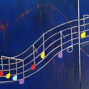 Music Notes Diptych 1