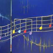 Music Notes Diptych 2