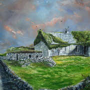 ivy covered house inish more aran islands