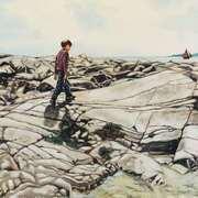 Walk on Barna shore