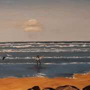 Irish Art, Rossnowlagh Surfers I,