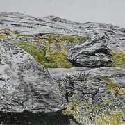 Burren National Park 3, oil pastels