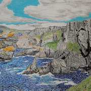 Mizen Head, Cork, oil pastels