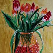 Tulips on Gold