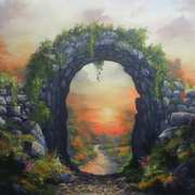 Art 'Sunset Celtic Secret Garden'