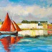 Galway hooker Leaving Port