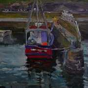 Red Trawler at Slade