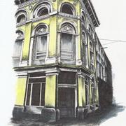 Wolfe Tone Street,D1,Pen,ink,acrylic