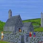 'St. Kevin's Kitchen, Monastic City, Glendalough, Co. Wicklow'