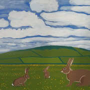 Rabbits in the countryside