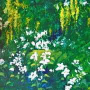 Sweet Laburnum With Lilies
