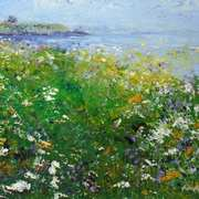 Art 'Wildflower Field Towards Martello Tower at Drumanagh, Loughshinny'