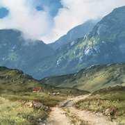 Mountain Road In The Twelve Bens,Connemara