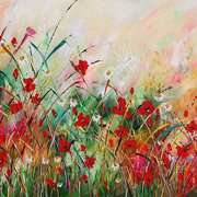 Art 'ABUNDANCE OF POPPIES'