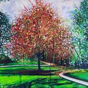Autumn in Curraghchase, Acrylics