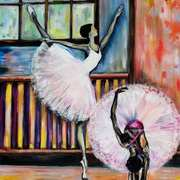 Ballerinas in practice