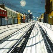 Tracks in the snow,5am Kildare