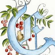 Calligraphy Art - E