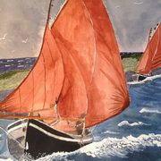 Irish Art, Galway Hooker,