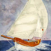 Irish Art, Sailing away,