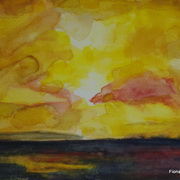 Golden Galway Bay Sunset