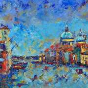 Art 'Santa Maria della Salute from Acamedia Bridge, Venice'