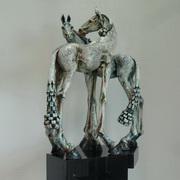 Tall Horse Corinthian Pair