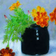 French Marigolds and Ceramic