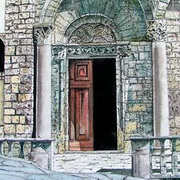 Church Doorway Arezzo