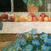 Still-life Fruit on Windowsill