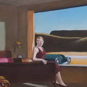 The Western Motel (after Hopper)