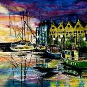 Dusk At The docks,needle felting