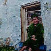 A Seat in the Sun, Lady at a Cottage Window, Townland of Kilcoanbeg,