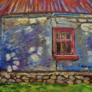 Abandoned Cottage, painted with consent from a photograph by Derek Usher