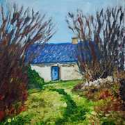 Abandoned Cottage, Keeraunbeg Townland, Galway, painted with consent from a photograph by Lesley O'Farrell