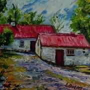 Alderwood Road Farm, Fivemiletown, County Tyrone, Painted with kind permission from a photograph by the Ulster Architectural Heritage Society