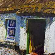 Ballinderry Forge Cottage, Cultra, County Down, Oil and acrylic on canvas
