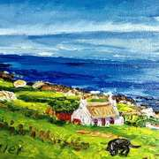 Art 'Cottage at Cloghfin Port, Port Road, Islandmagee, County Antrim'