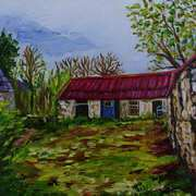 Deep in the Sperrin Deserted Farm Cottage and Outbuildings Glenelly Valley County Tyrone