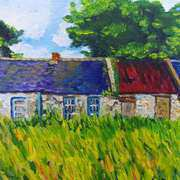 Deserted Roadside Cottages, near Downpatrick, County Down