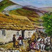 Distributing the Wool (Cottage Industry) Mountain Cottage Connemara